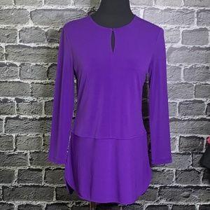 Lauren Ralph Lauren Purple Career Top Jersey Knit